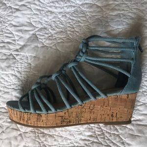 Steve Madden Denim Wedge Shoes